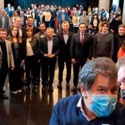 La oposición se juntó el martes 21 para hacerse notar en medio del espectáculo de la interna oficial. Manes y Santilli, juntos. | Foto:cedoc
