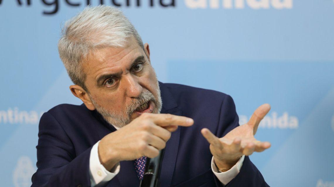 Security Minister Aníbal Fernández.