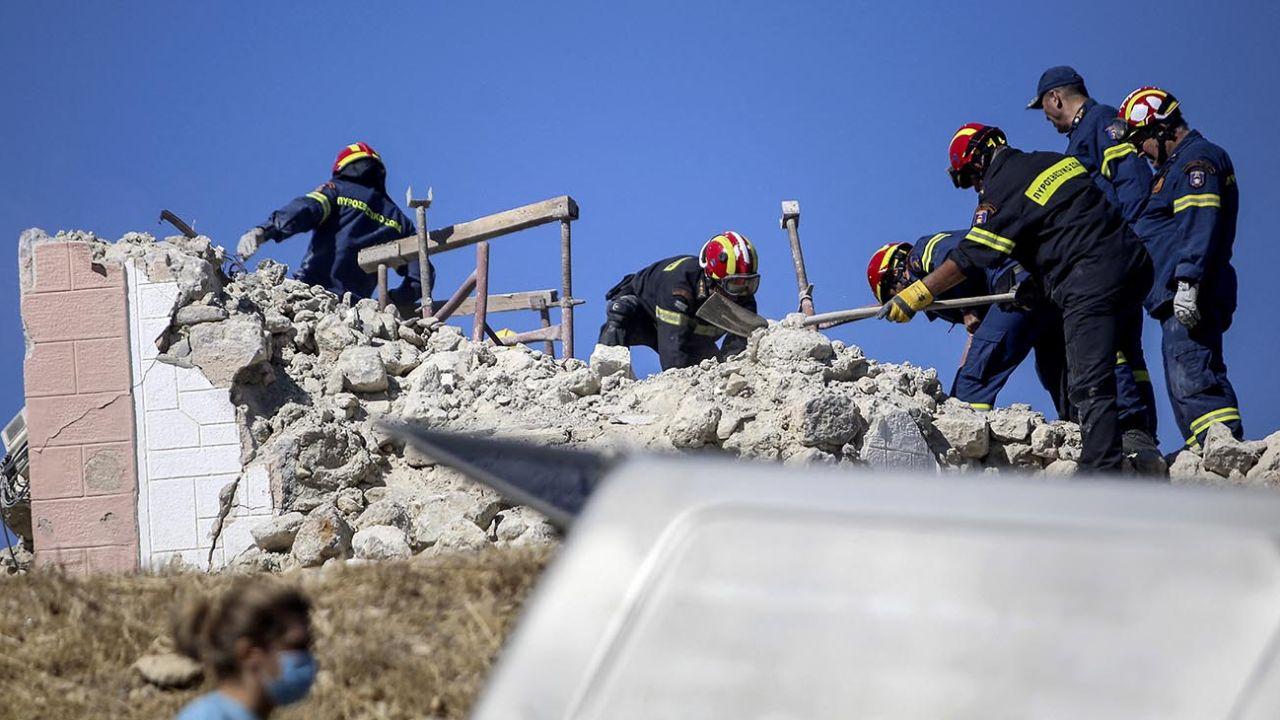 Arrasador terremoto en la isla de Creta dejó un muerto y nueve heridos