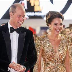 Kate Middleton y su vestido dorado de lentejuelas