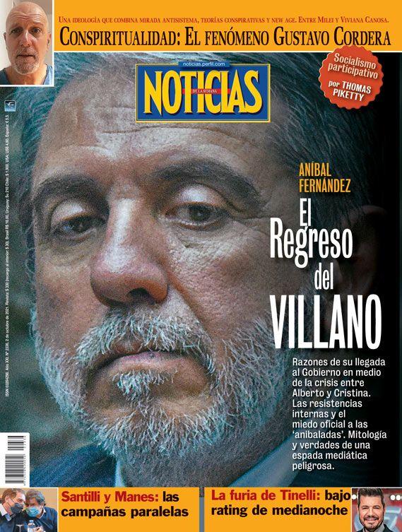 Tapa Nº 2336 | Aníbal Fernández: el regreso del villano | Foto:Pablo Temes
