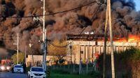 El incendio en el Parque Industrial de Bernal 20211001