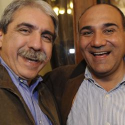 Aníbal Fernández y Juan Manzur.  | Foto:CEDOC