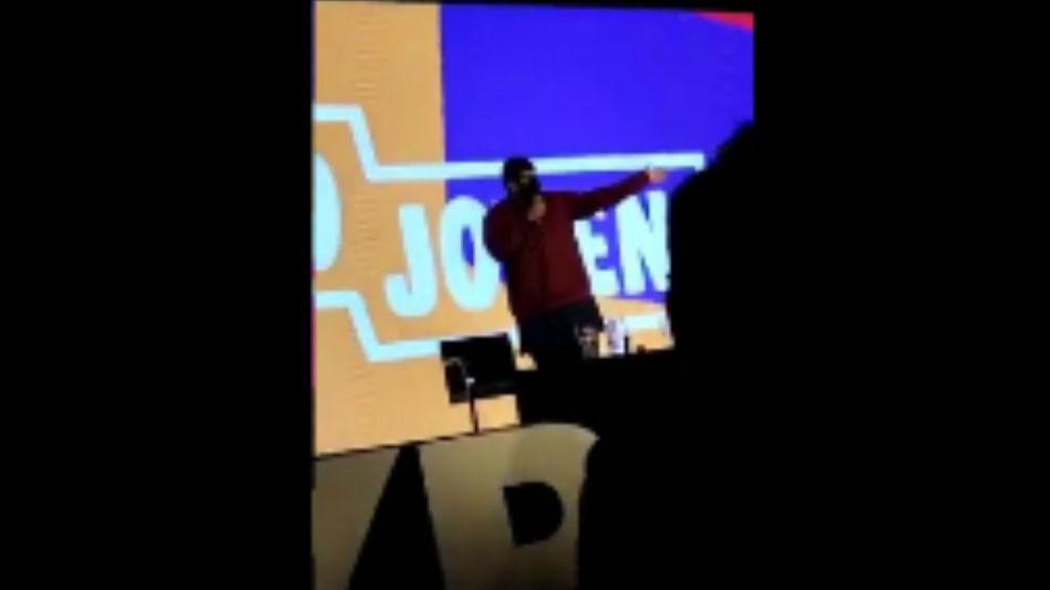 """Un joven que habló de """"chorros y vagos"""" en una expo de La Matanza fue tendencia en redes."""