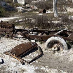 Camioneta Dessotto modelo 31 sumergida 20 años en Epecuén