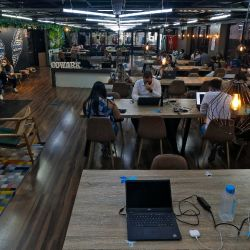 View inside a coworking space on Paulista Avenue, in São Paulo, Brazil, on September 27, 2021.