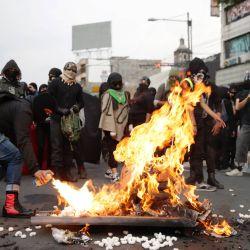 Personas participan en una manifestación, en la Ciudad de México, capital de México.   Foto:Xinhua/Francisco Cañedo