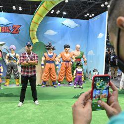 Una vista de la activación de Bandai durante el primer día de la New York Comic Con 2021 en el Jacob Javits Center en la ciudad de Nueva York. | Foto:Bryan Bedder/Getty Images for ReedPop/AFP
