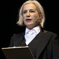 Mercedes Morán en el escenario de Teatro Colón.  | Foto:CEDOC