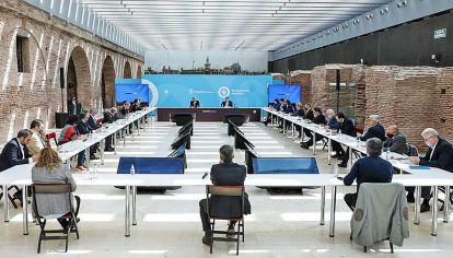 Gabinete. Alberto Fernández encabezó esta semana una nueva reunión con sus funcionarios.
