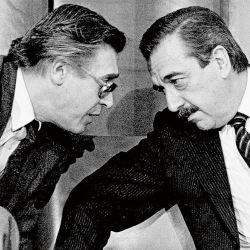 Juan Sourrouille y Alfonsín | Foto:cedoc