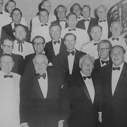 US Ambassador Robert Hill, together with directors of both the American Club and the American Chamber of Commerce, 1977.
