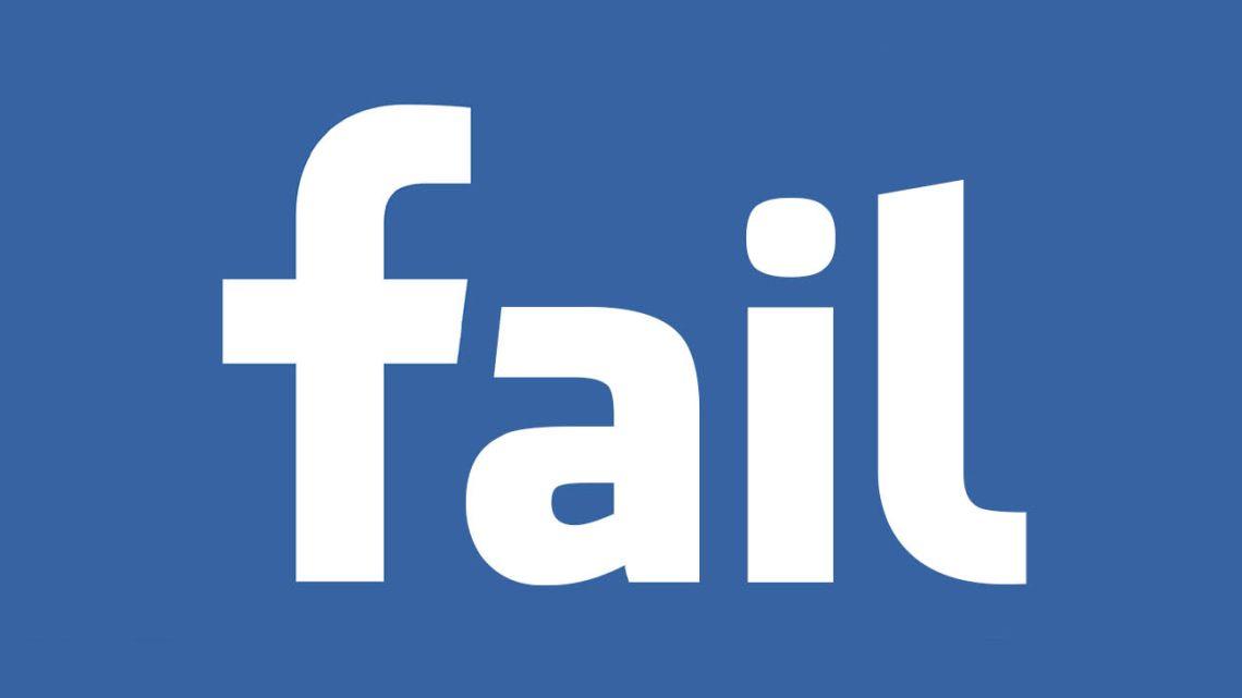 Facebook fail.