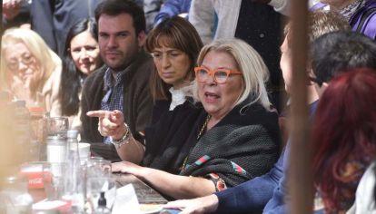 Lilita Carrio en campaña.