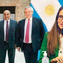 Cristina Kirchner, Juan Manzur, Alberto Fernández -  Elizabeth Gómez Alcorta | Foto:cedoc