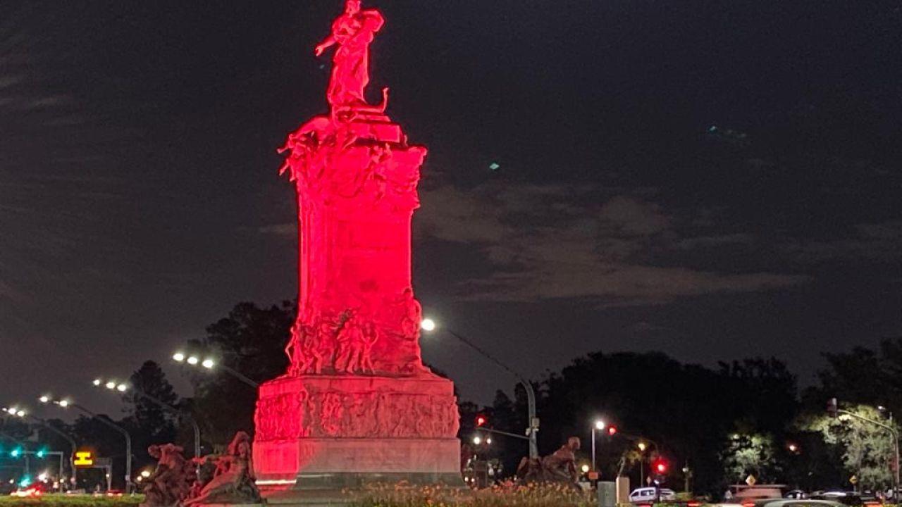 Monumentos iluminados por el Día Mundial de la Trombosis   Foto:cedoc