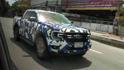 Primera imagen frontal (con claridad) de la nueva Ford Ranger