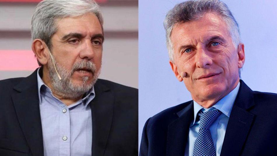 Aníbal Fernández y Mauricio Macri 20211013