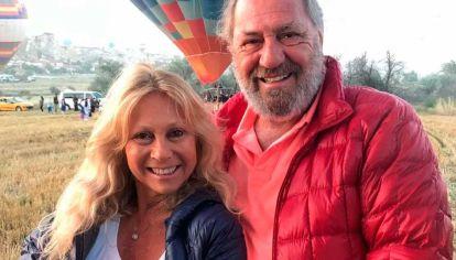 Ana Rosenfeld volvió de Miami y despidió a su marido en La Tablada