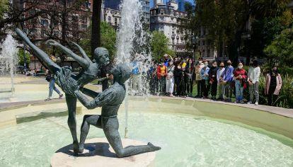 Acto de Reinaguración de Escultura Bailarines 20211019