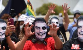 Anti-Bolsonaro protesters