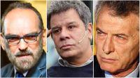 Fernando Iglesias, Facundo Manes y Mauricio Macri.