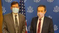 Gustavo Beliz, junto al enviado especial adjunto del presidente Biden para el Clima, Jonathan Pershing.