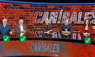 El staff original del programa Caníbales