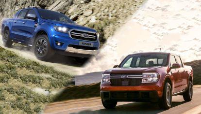Caja y carga de la nueva Ford Maverick vs. Ranger