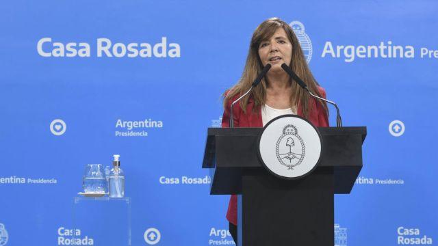 Conferenciade prensa de la portavoz de la presidencia Gabriela Cerruti 20211021
