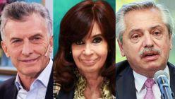 Alberto Fernández, Cristina Fernández y Mauricio Macri 20211021