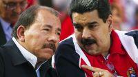 Los presidentes Daniel Ortega (Nicaragua) y Nicolás Maduro (Venezuela)