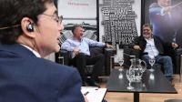 Gerardo Martínez y Teddy Karagozian, en la entrevista con Jorge Fontevecchia.