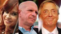 """Cristina Kirchner, Néstor Kirchner y Hugo """"El Pollo"""" Carvajal. 20211026"""
