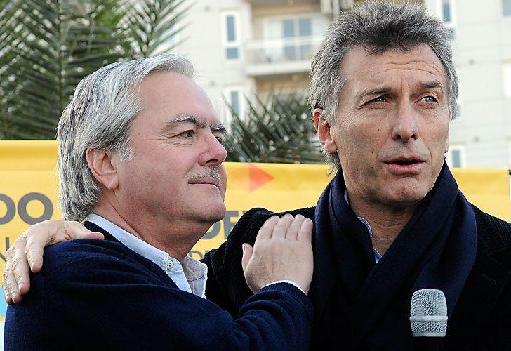 El presidente provisional del Senado, Federico Pinedo, y el presidente Mauricio Macri.