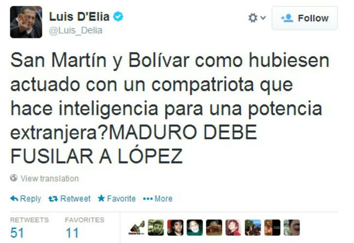 El piquetero no se arrepintió y citó a San Martín para pedir de nuevo el fusilamiento de López.