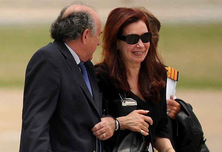 Oscar Parrilli con Cristina Kirchner