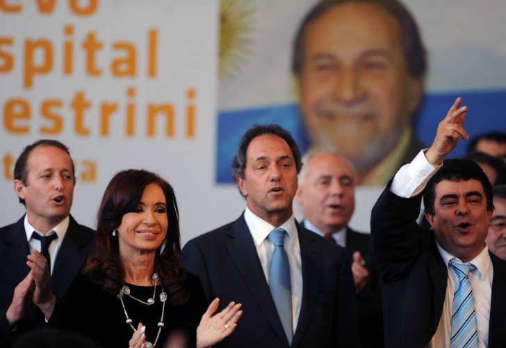Daniel Scioli con la Presidenta, Martín Insaurralde y Fernando Espinoza