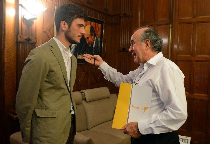 El secretario general de la Presidencia Oscar Parrilli dialogó con el macrista Pedro Robledo.