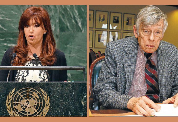 La expresidenta Cristina Fernández y el juez estadounidense Thomas Griesa, una histórica relación de tensión.