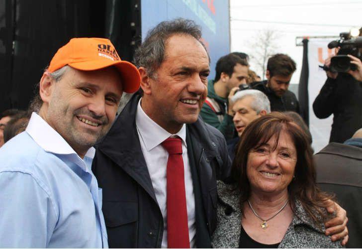 Scioli con Marcos y Tana Di Palma
