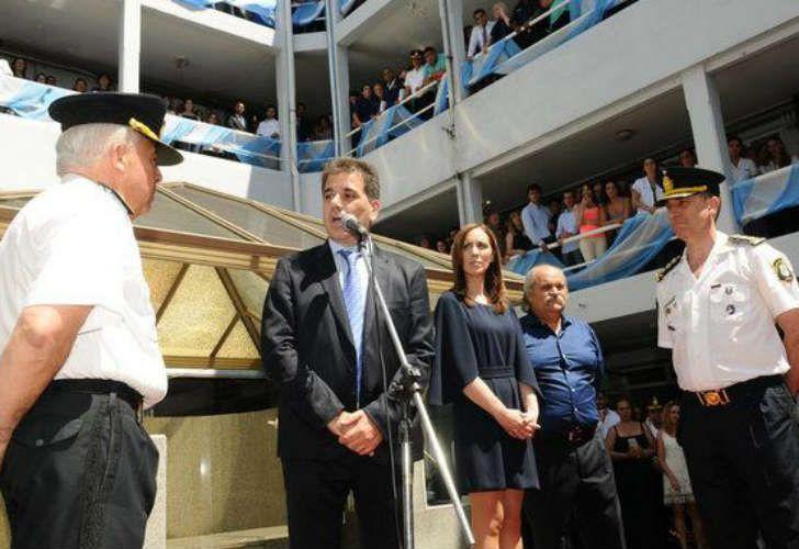 Ritondo, Vidal y Granados en la asunción del nuevo jefe
