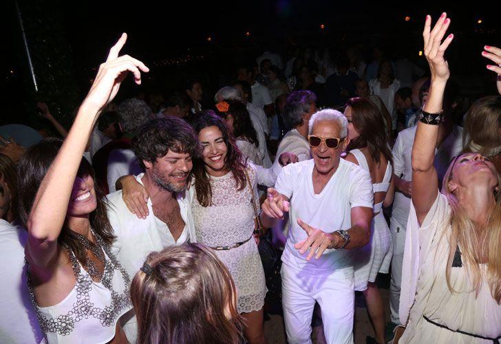 En la fiesta de blanco que Chandon organizó en Punta del Este.