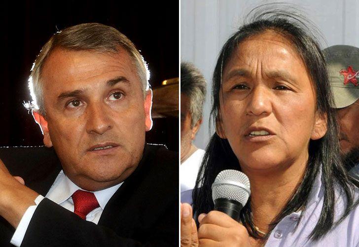 Gerardo Morales y Milagro Sala.