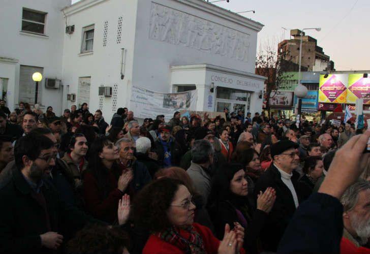 Las protestas en Morón.