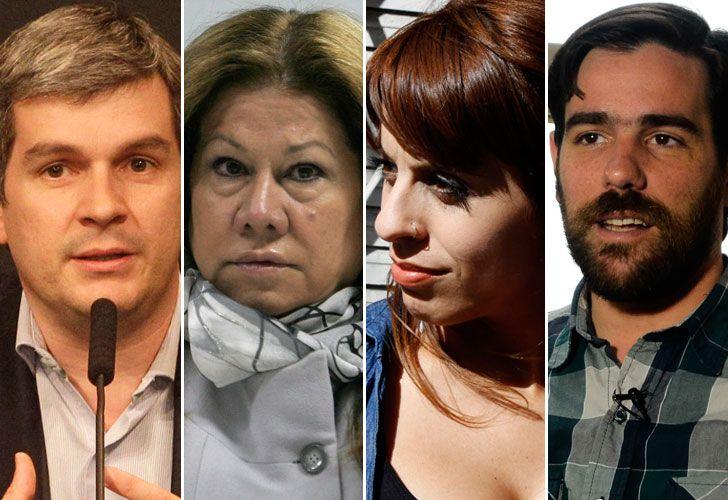 Marcos Peña, Graciela Camaño, Victoria Donda, Nicolas del Caño