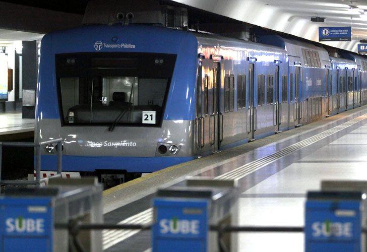 Paro en la línea de trenes Sarmiento