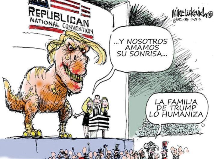 DINOSAURIO: humor progresista vs. el populismo de EE.UU.