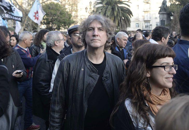 Boudou en la marcha de Plaza de Mayo en apoyo a Bonafini.