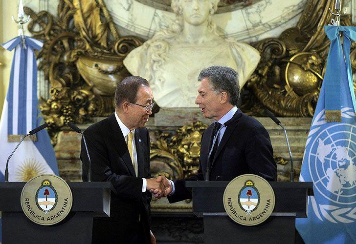 Macri y Ban ki moon